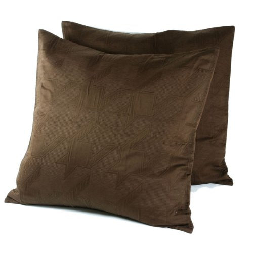 Paris Matelasse Pillow Sham - Pinecone Brown, Euro