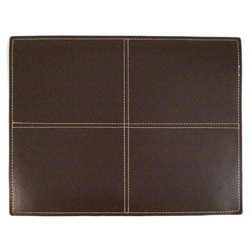 Stitched Faux Leather Placemat - Brown