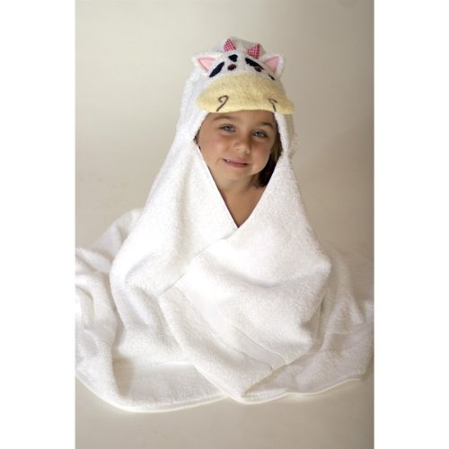 Animal Hooded Tubby Towel - Cow