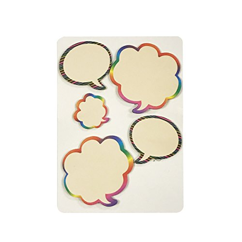 Wrapables Rainbow Thinking Bubble Sticky Notes (Set of 2)