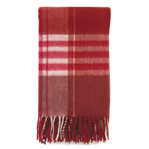 Sydney Plaid Throw - Chili