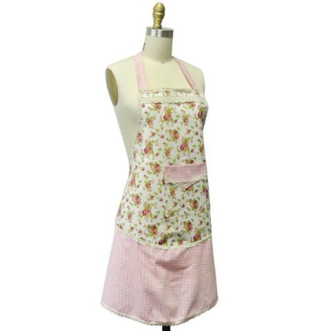 Kella Milla Aqua Meadow with Dot Trim Apron