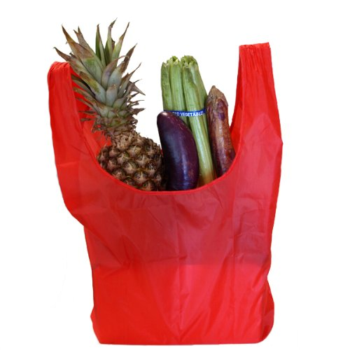 Rainbow Colored Reusable Shopping Bag - Red