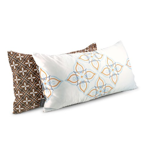 "Kaleidoscope Throw Pillow - Petite Grande in Sunshine (24"" x 13"")"