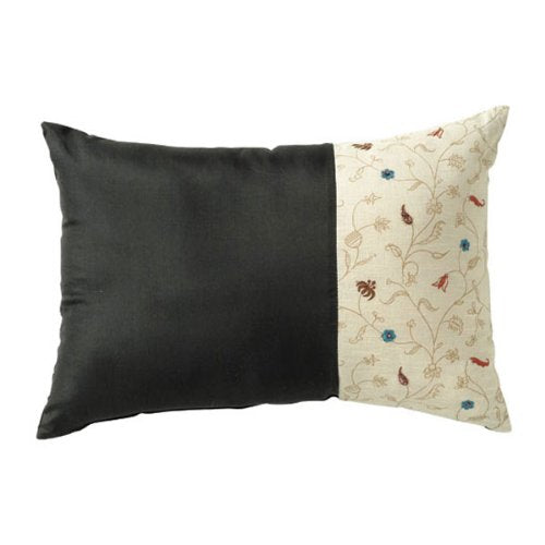 Tikka Throw Pillows - Black (Pair of 2)
