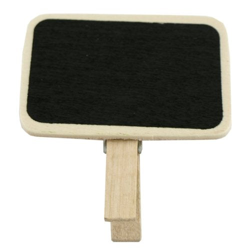 Wrapables Mini Chalkboard with Wooden Clip with White Liquid Chalk Pen