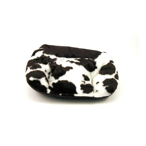 "West Paw Design Tuckered Out Premium Stuffed Dog Bed, Cow/Bison - Small 23"" x 18"""