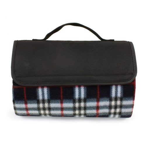 Sunshine Blanket Tote - Black Plaid
