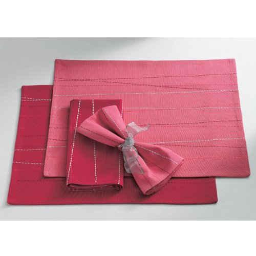 Criss Cross Placemat - Dark Pink