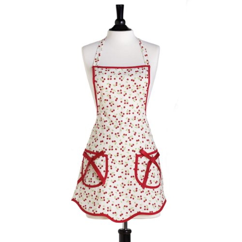 Jessie Steele Retro Cherries Bib Ava Apron - Adult