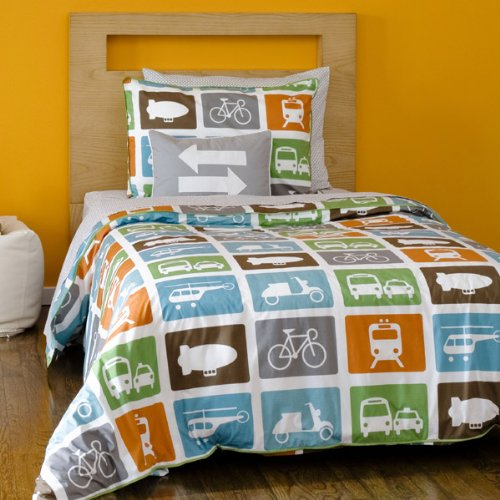 DwellStudio Transportation Multi - Twin Duvet Set