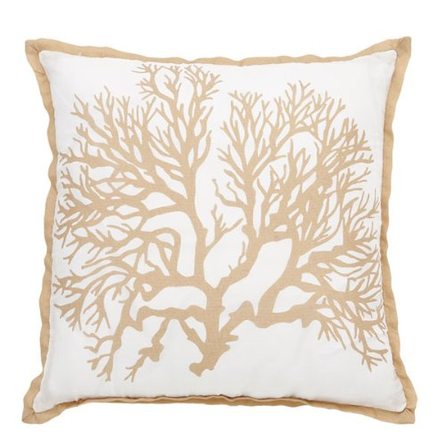 Coral Silk Throw Pillow