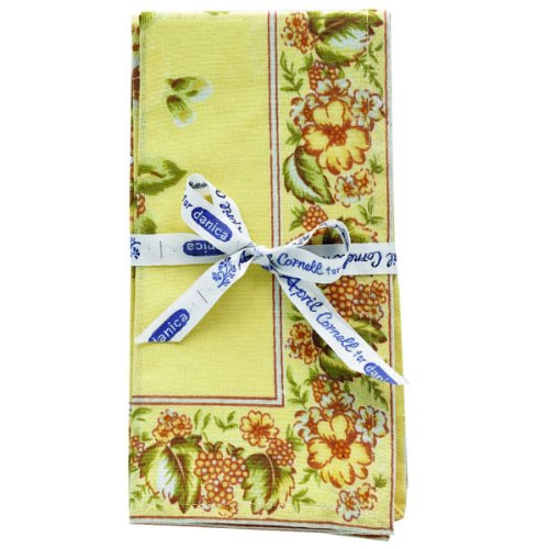Sikkim Yellow Floral Napkins (set of 4)
