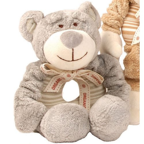 Organic Stretchy Plush Dog Toy - Wally the Bear