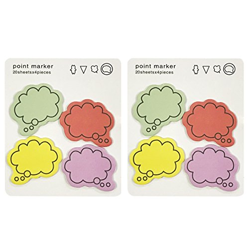 Wrapables Colorful Thinking Bubble Sticky Notes (Set of 2)