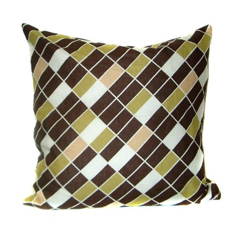 DwellStudio Diagonals Throw Pillow - Leaf