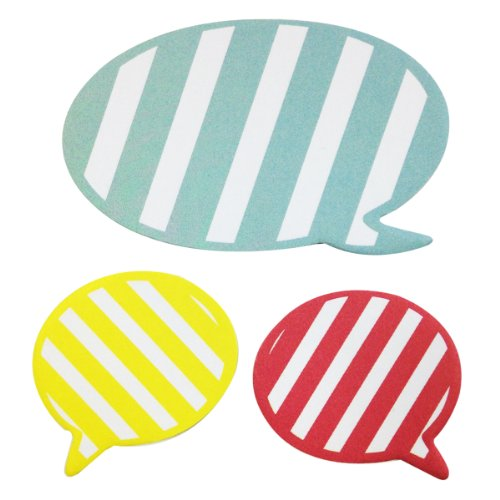 Wrapables Striped Talking Bubble Sticky Notes