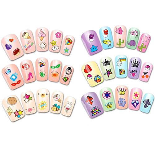 Wrapables 30 Sheets Funky Patterns Nail Art Nail Stickers 3d Nail Decals Nail Art for Children