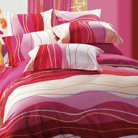 Belgravia Stripe Throw Pillow - Azalea