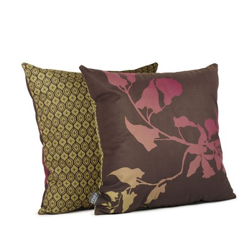 Morning Glory Throw Pillow - Fuscia