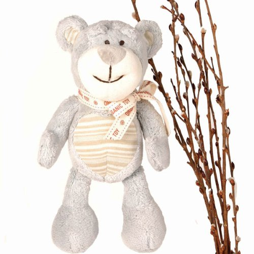 Organic Plush Dog Toy - Wally the Bear