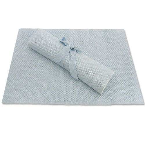 Spectrum Ribbed Placemats - Sky Blue