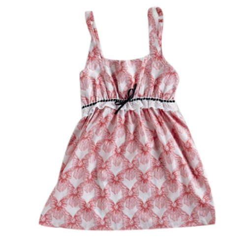 Jessie Steele Women's Bows Chemise, Pink Velvet, Medium