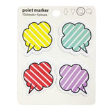 Wrapables Striped Thought Cloud Sticky Notes