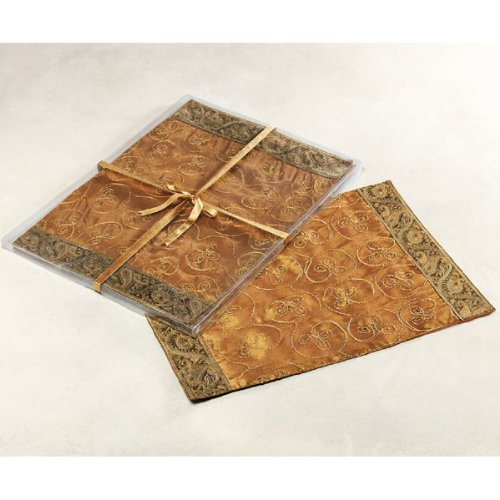 Gold Embroidered Table Linen Collection - Placemats (set of 4)