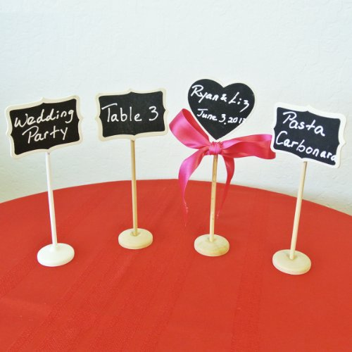 Wrapables Rectangle Mini Chalkboard Tag with Stand (Set of 6) + Rectangle Mini Chalkboard Tag (set of 3) for Wedding, Gift Tags, Party Favors, Storage Labelling Tags