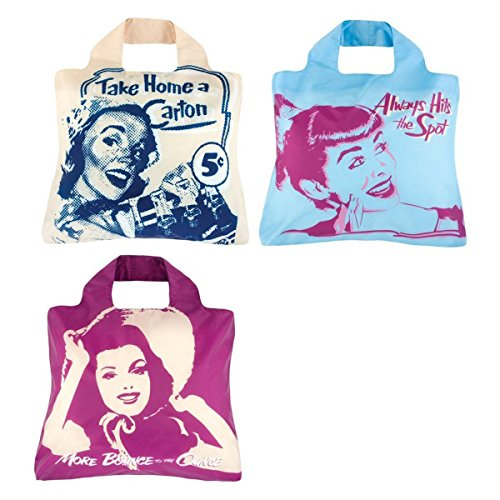 Envirosax Eco-Friendly Pepsi Heritage Reusable Shopping Bags (set of 3)