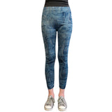 Wrapables® Women's Faux Denim Jeans Print Leggings
