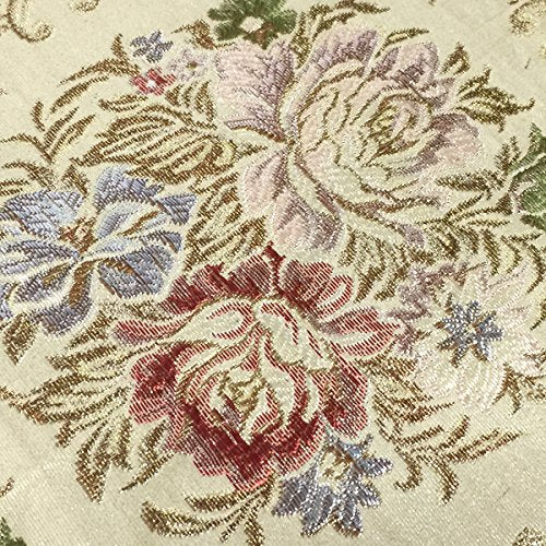 Wrapables 20 x 12.75 Inch Rectangle Vintage Floral Placemat with Gold Embroidery