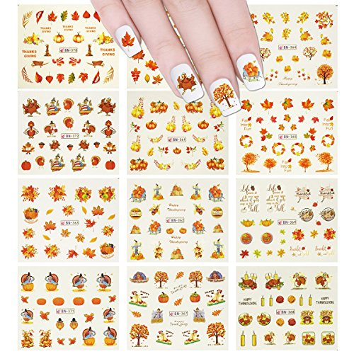 Wrapables 11 Sheets Thanksgiving Nail Art