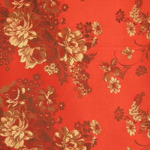 Floral Satin Brocade Decorative Paper - Rose & Iris (set of 3)