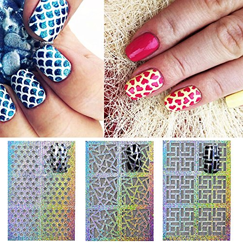 Wrapables 24 Designs Holographic Manicure Nail Art