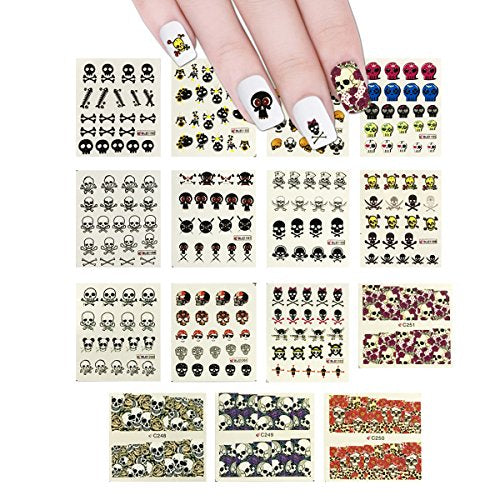 Wrapables 11 Sheets Skulls Water Slide Nail Art