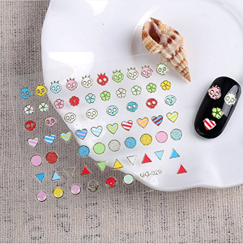 Wrapables Mini Colorful Shapes Nail Stickers Nail Art Set (24 sheets)