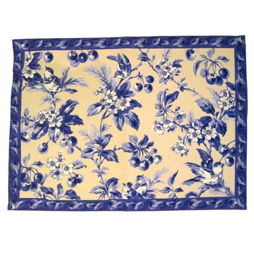 Cherry Blossom Antique Blue Placemat & Napkins