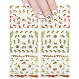Wrapables Nail Art Self-Adhesive Nail Stickers 3D Nail Decals - Asian Inspired Cherry Blossoms, Bamboos & Cranes (3pk)
