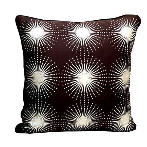 Starburst Throw Pillow - Cream/Coffee
