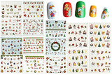 Wrapables Christmas Water Slide Nail Art Decals Water Transfer Nail Decals (44 sheets/Over 800 decals)