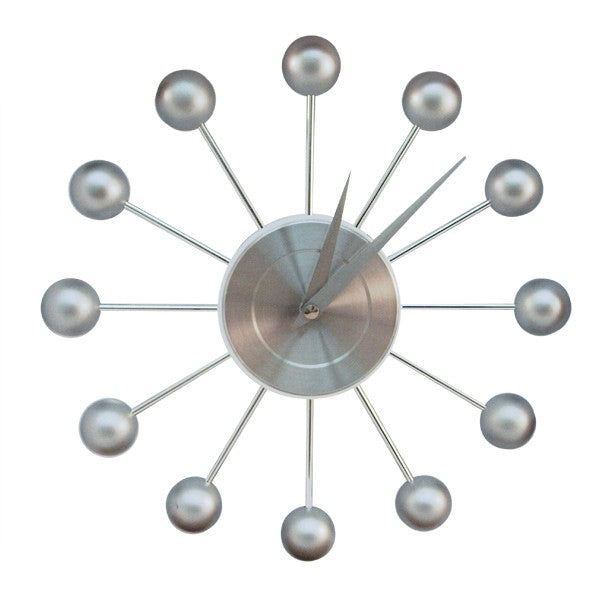Orbit Wall Clock - Silver