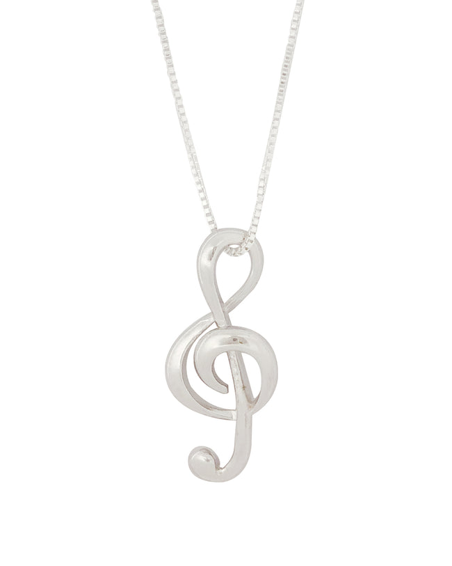 Wrapables® Treble Clef Musical Note Pendant Necklace