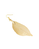 Wrapables® Gold Plated Lightweight Filigree Long Leaf Earrings