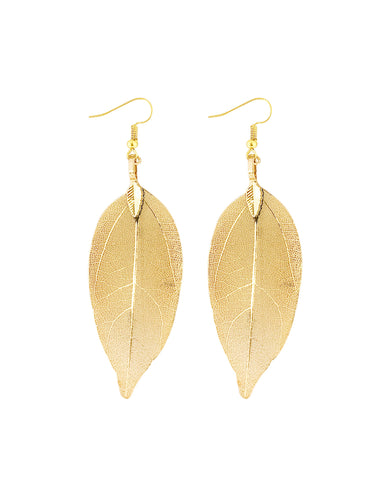 Gold Plated Swarovski Elements Crystal Four Leaf Clover Earrings