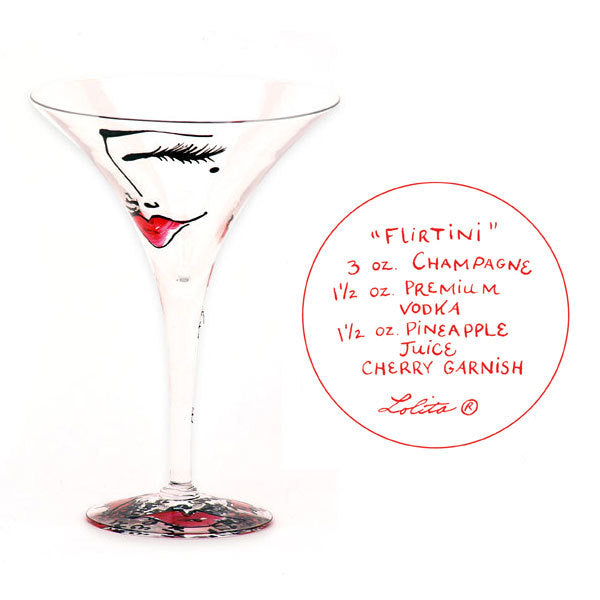 Flirtini Martini Glass