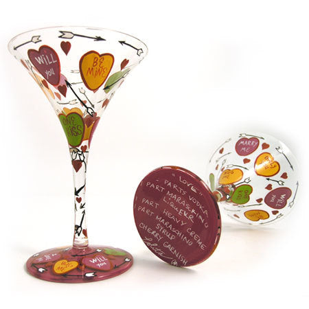 Ball and Chain Martini Glass