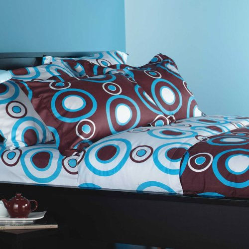 Urban Circles - Aqua/White Bedding Collection