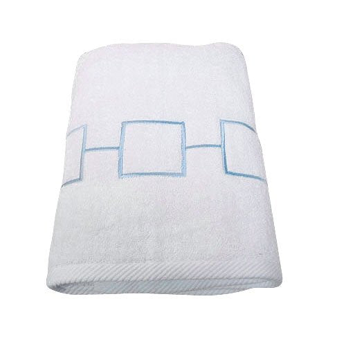 "Pop Grid Bath Towel - Blue (27""x52"")"
